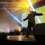 Rob carley on stage events conference Mc Dublin 3 Arena